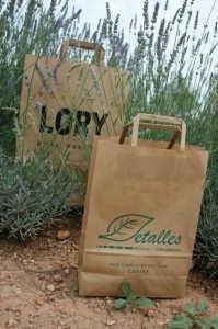 Bolsas de papel reciclado asa plana