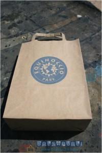 Bolsa de papel reciclado kraft
