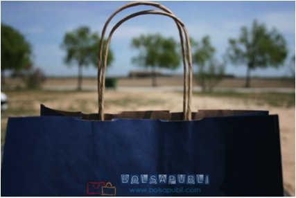Bolsas de papel reciclado azul
