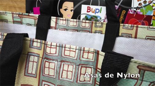 Bolsas Rafia Asa de Nylon