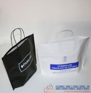 bolsas de papel de asa rizada con tu logo
