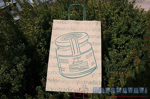 bolsas de papel reciclado personalizadas asa rizada