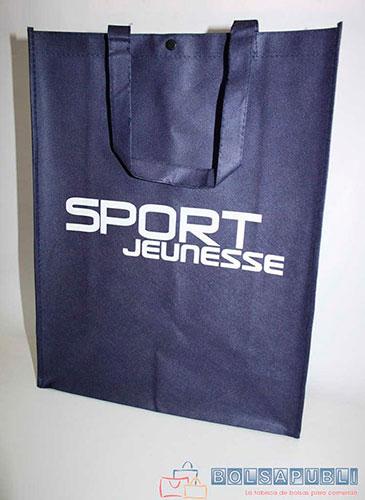 bolsas de tela ecológicas para comercios azul