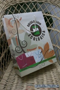 bolsas ecologicas de lujo impresas con cordon