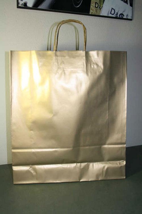 Bolsas ecológicas impresas color oro