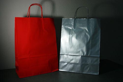 Bolsas ecológicas impresas de colores