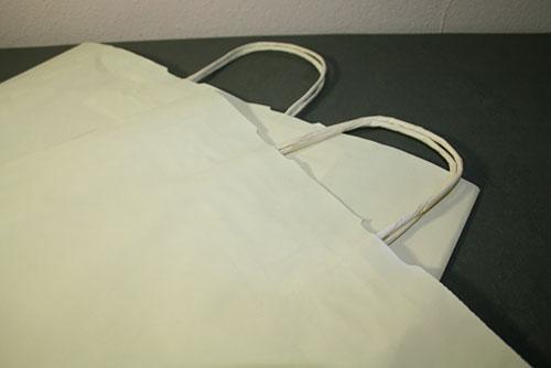 bolsas de papel marfil ecológicas asa rizada