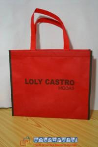bolsas de tela rojas