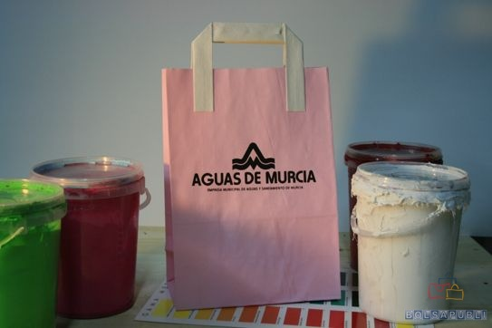 como son las bolsas ecológicas de papel rosa