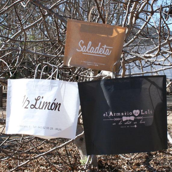 Bolsas de Papel Reciclado Blanca, Kraft y Negro