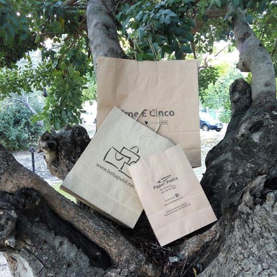 bolsas papel reciclado kraft