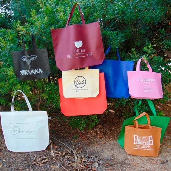 bolsos de tela ecológicos colores