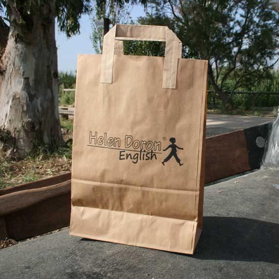 bolsa de papel + asa plana exterior
