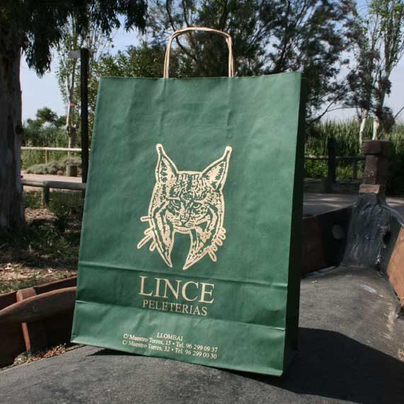 bolsa de papel + reciclado verde mediano