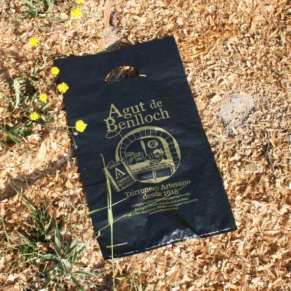 bolsa de plástico + compostable