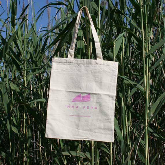 bolsa de tela + algodón
