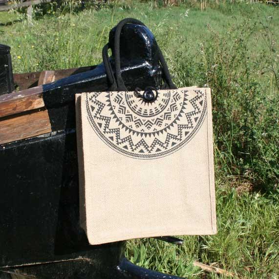 bolsa de tela + yute