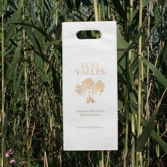 bolsa de tela + para vino blanca