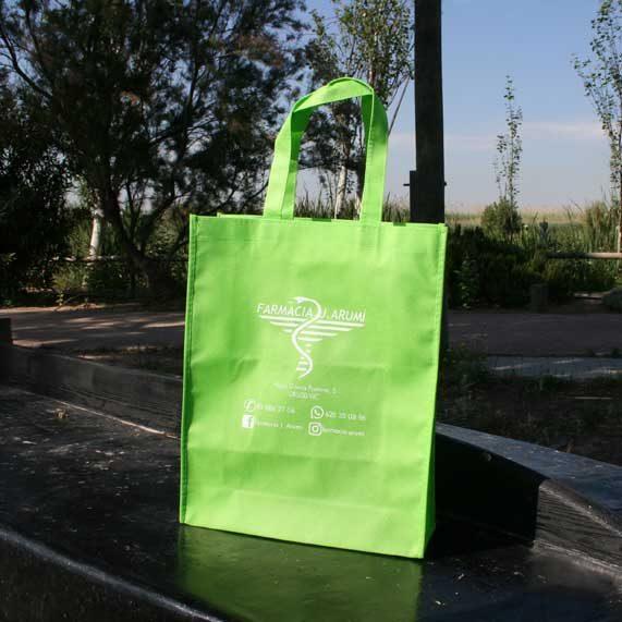 bolsa de tela + tst verde pistacho