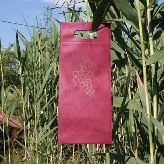 bolsa de tela + para vino granate