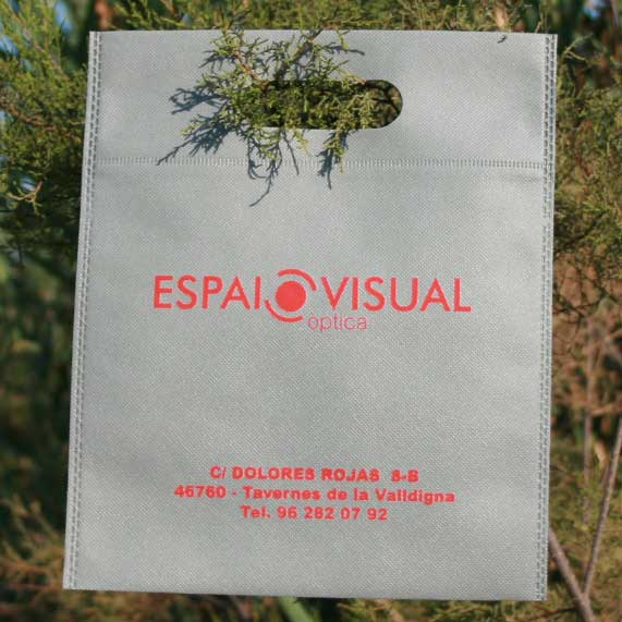 Bolsa de Tela Tst Troquelada Gris Reciclable